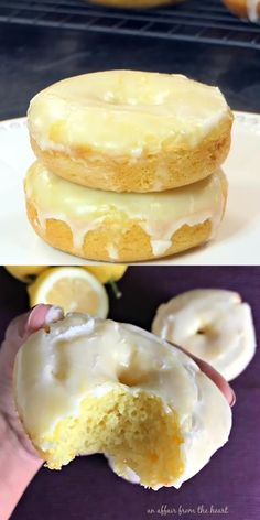 Delicious Donuts, Delicious Desserts, Yummy Food, Lemon Recipes, Sweet Recipes, Cake Recipes, Baked Donut Recipes, Bon Dessert, Homemade Donuts