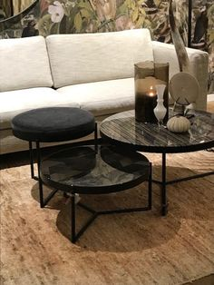Living Room Interior, Home Decor Bedroom, Home Living Room, Apartment Living, Living Room Furniture, Living Room Decor, Dinning Tables And Chairs, Pin On, Round Coffee Table