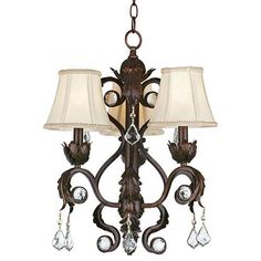 La Vida Buena chandelier styling from Kathy Ireland Home. 20 high x wide. Canopy is wide x high. Style # 97436 at Lamps Plus. Kitchen Chandelier, Bronze Chandelier, Mini Chandelier, Modern Chandelier, Chandelier Lighting, Chandeliers, Chandelier Bedroom, Kathy Ireland, Led Panel Light