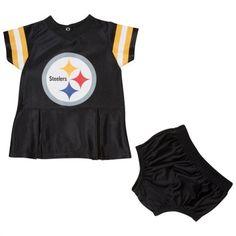 Pittsburgh Steelers Girls Infant Black Spirit Dress