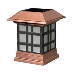 Deckorators (Fits Common Post Measurement: x Actual: x x Copper Solar LED Plastic Deck Post Cap at Lowe's. This Deckorators® solar dynasty LED post cap will add a touch of style and light to your outdoor area.