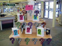 Library display - Mystery books by VPL_Beta, via Flickr