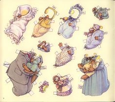 The Bushytail Family Paper Dolls by Kathy Lawrence