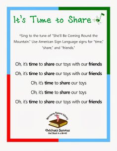 Preschool Songs About Sharing and Helping Others | Morrisson-Reeves Library - MRL Kids Read!