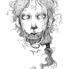 Inktober Drawing an art print by Jenna McCloskey Halloween Horror, Horror Art, Inktober, Risotto, Art Prints, Gallery, Drawings, Illustration, Artwork