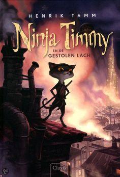 Ninja Timmy en de gestolen lach. Het Blauwe Konijn steelt de lach van de kinderen uit de stad Elyzandrium. De kat Timmy en zijn vrienden gaan de strijd met hem aan. Ze krijgen hulp van een speelgoedmaker, die hem omtovert in ninja's! En een anderen meisjes kat Flores. Mijn menig over het boek is dat het heel leuk is, omdat er super mooie en grappige plaatjes in zitten en het is ook een heel grappig boek om te lezen! Zeker een aanrader! Recensie: Daantje.