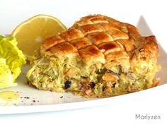 Tourte bretonne (poireaux, saumon et fruits de mer) No Salt Recipes, Cooking Recipes, Quiche Muffins, Beignets, Seafood Dishes, Apple Pie, Entrees, Sandwiches, Food And Drink