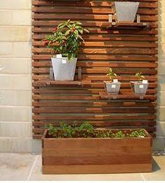 Pergola with planter privacy screen - Google Search