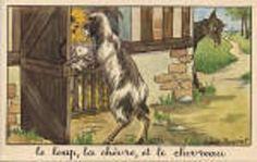 """Le loup la chèvre et le chevreau """"Montrez-moi patte blanche ou je n'ouvrirai point"""""""