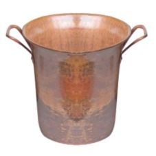 "Orion C16-R 9"" Rustic Copper Wine Bucket Square Handles C16-R/PC 