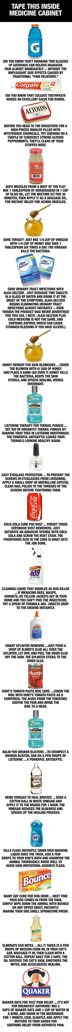 Interesting Stuff...not sure if it all works but these are good things to know!
