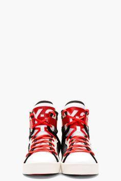 Y-3 Black Mesh Laver High-Top Sneakers