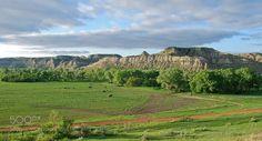 Green Pastures #Beautiful #Badlands #NorthDakota http://www.mykuhls.com/Beautiful/Beautifulbadlandsnd/
