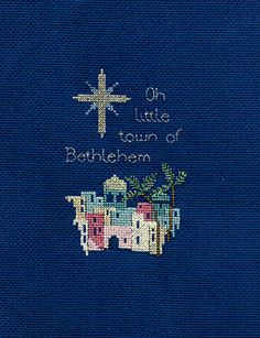 Bethlehem Cross Stitch Christmas Card Kit from Derwentwater Designs