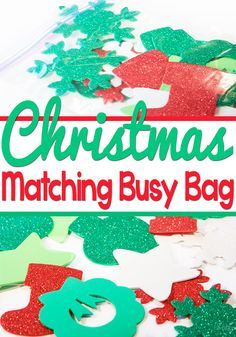 This Christmas Matching busy bag is a great way to get some quiet time during the busy Christmas season.