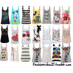 Omg these tank tops are so cute ^-^ and the addiction begins mwahahahah!