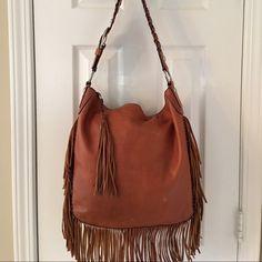Coach 11913 Brown Leather Fringe Shoulder Bag Mass posting Coach Bags Shoulder Bags