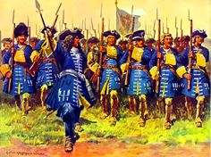 King Karl V'a Bavarian Württ Regiment of Foot on the march, War of the Spanish Succession