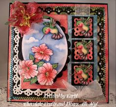 Chocolate Crafts and Bears, Oh My!: Fred She Said Wee Humming Bird and Petunias