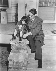Mary Badham and Gregory Peck