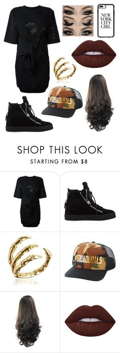 """""""Slay"""" by zoemlucas ❤ liked on Polyvore featuring Moschino, Giuseppe Zanotti, Bernard Delettrez, Charlotte Russe, Lime Crime and Casetify"""