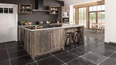 Country style solid oak kitchen - Integrated househould appliances - Landelijke keuken op maat in massieve eik - Naadloos geïntegreerde keukentoestellen - #WoonTheater