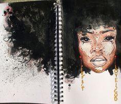 NATURAL HAIR ART Black Girl Art, Black Women Art, Art Girl, African American Art, African Art, Natural Hair Art, Black Artwork, Afro Art, Art For Art Sake