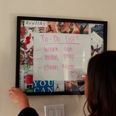Dry Erase Vision Board: could personalize it and it would make a cool gift!