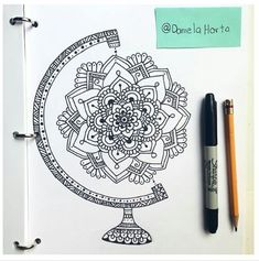 Dope or a Nope? - Dope or a Nope? Dibujos Zentangle Art, Zentangle Drawings, Zentangle Patterns, Doodle Drawings, Doodle Art, Zentangles, Mandala Art, Mandala Doodle, Mandala Drawing