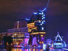 Light up des Blue Port 2017 am 1. September 2017