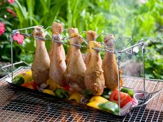 BBQ Rack with Basting Brush & Pot.