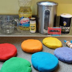 It's easy, requires only household ingredients, and takes just 10 minutes. Gather flour, water, cream of tartar, salt, vegetable oil, and food coloring (get the exact recipe here), and in just a few minutes, you'll have long-lasting, nontoxic, homemade play dough!  Source: Musings From a Stay At Home Mom