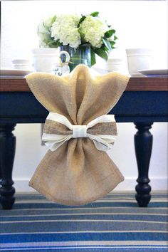 Burlap Table runner for wedding!