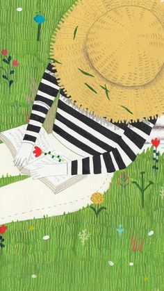 reading on the grass