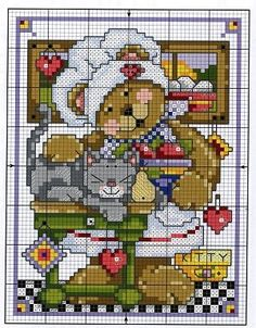 Flashup---Kitchen Towel---chart---BEAR IN KITCHEN---PAGE 6 OF 14