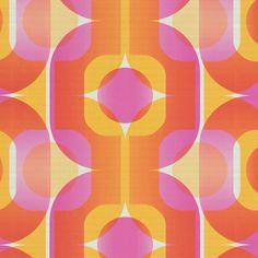 as Creation Thank You 1974 Orange Pink Retro Paste The Wall Wallpaper for sale Pink Retro Wallpaper, Wallpaper For Sale, Geometric Wallpaper, Vinyl Wallpaper, Wallpaper Patterns, Geometric Art, Textures Patterns, Print Patterns, Swatch