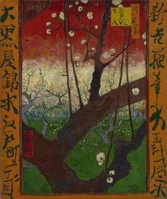 Vincent van Gogh, ciruelo floreciente Orchard (después de Hiroshige), 1887, Museo Van Gogh