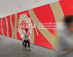 디자인퍼플 Conference Branding, Jakarta Fashion Week, Event Branding, Identity, Editorial, City, Walls, Board, Cities