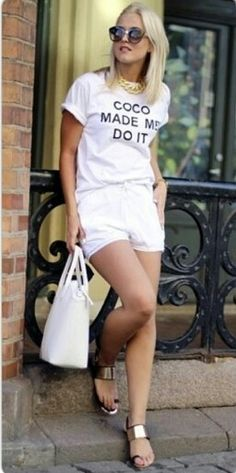 This #CocoMadeMeDoIt tee can be  styled for any occasion get yours now www.houseoftreli.com
