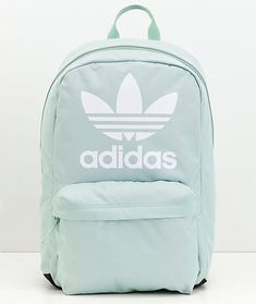 adidas Originals Big Logo Ash Green Backpack Source by Cute Backpacks For School, Trendy Backpacks, Green Backpacks, Nike Backpacks, College Backpacks, Backpack For Teens, Mini Backpack, Backpack Bags, Fashion Backpack