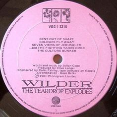Teardrop Explodes, The - Wilder CANADA 1981 Lp nm