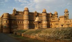Gwalior, India ~ Gwalior Fort is also known as the Painted Fort for its colorful decorations