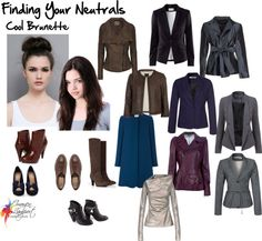 Finding Your Neutrals - cool Brunette Black Charcoal Gunmetal Many Shades of Grey Navy Deep Teal Deep Aubergine Bitter chocolate brown Cool Winter, Winter Typ, Dark Winter, Summer Winter, Capsule Wardrobe, Deep Winter Colors, Inside Out Style, Seasonal Color Analysis, Mein Style