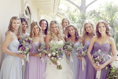 Pale Purple Chiffon Bridesmaid Dresses