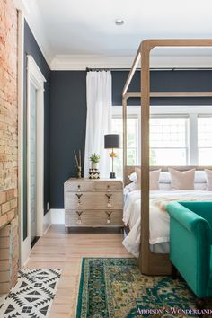 A Guide to Saving Big on All Things Anthropologie Home. - Addison's Wonderland-home-decor-interior-design-blue-green-pink-purple-living-dining-bed-room-white-table-furniture-bed-couch-beautiful-rug-tile-hard-wood Bedroom Furniture Sets, Furniture Layout, Bed Furniture, Furniture Sale, Bedroom Sets, Bedroom Decor, Furniture Removal, Discount Furniture, Furniture Movers