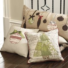 Neutral NOEL Christmas Pillow - Christmas Pillows - A Gathering Place Christmas Sewing, Christmas Projects, Christmas Home, Holiday Crafts, Xmas, Christmas Cushions, Christmas Pillow, Diy Pillows, How To Make Pillows