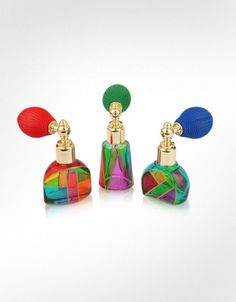 Due Zeta Casanova - Hand Decorated Murano Glass Spray Perfume Bottles