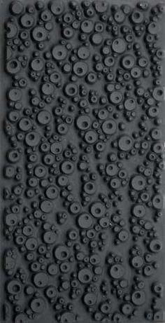 Black | 黒 | Kuro | Nero | Noir | Preto | Ebony | Sable | Onyx | Charcoal | Obsidian | Jet | Raven | Color | Texture | Pattern | Styling | Texture Tile: Double Bubble Reversed