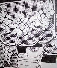 6442 Vintage Filet GRAPEVINE Chair Set Pattern to Crochet (Reproduction)