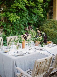 Inspiring natural wedding table.